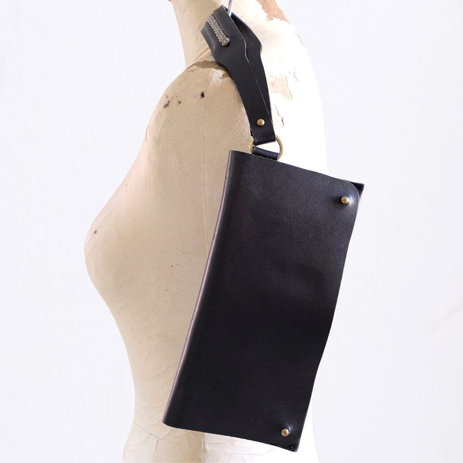 Sarma Foldover Clutch Purse - Black