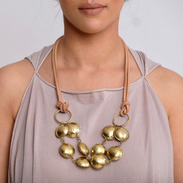 Kamah Mini Double Strand Disc Necklace
