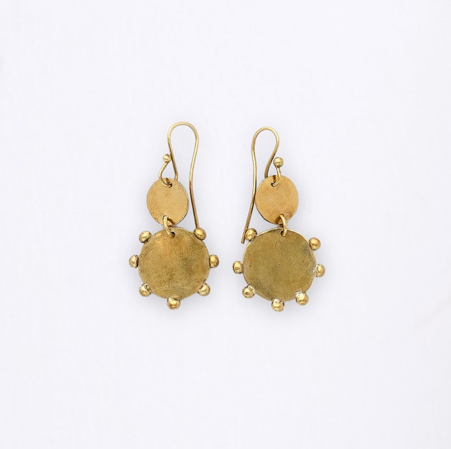 Hebba Double Disc Earrings