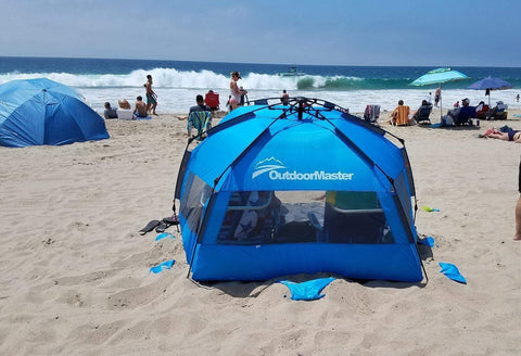 OutdoorMaster Pop-Up Beach Tent