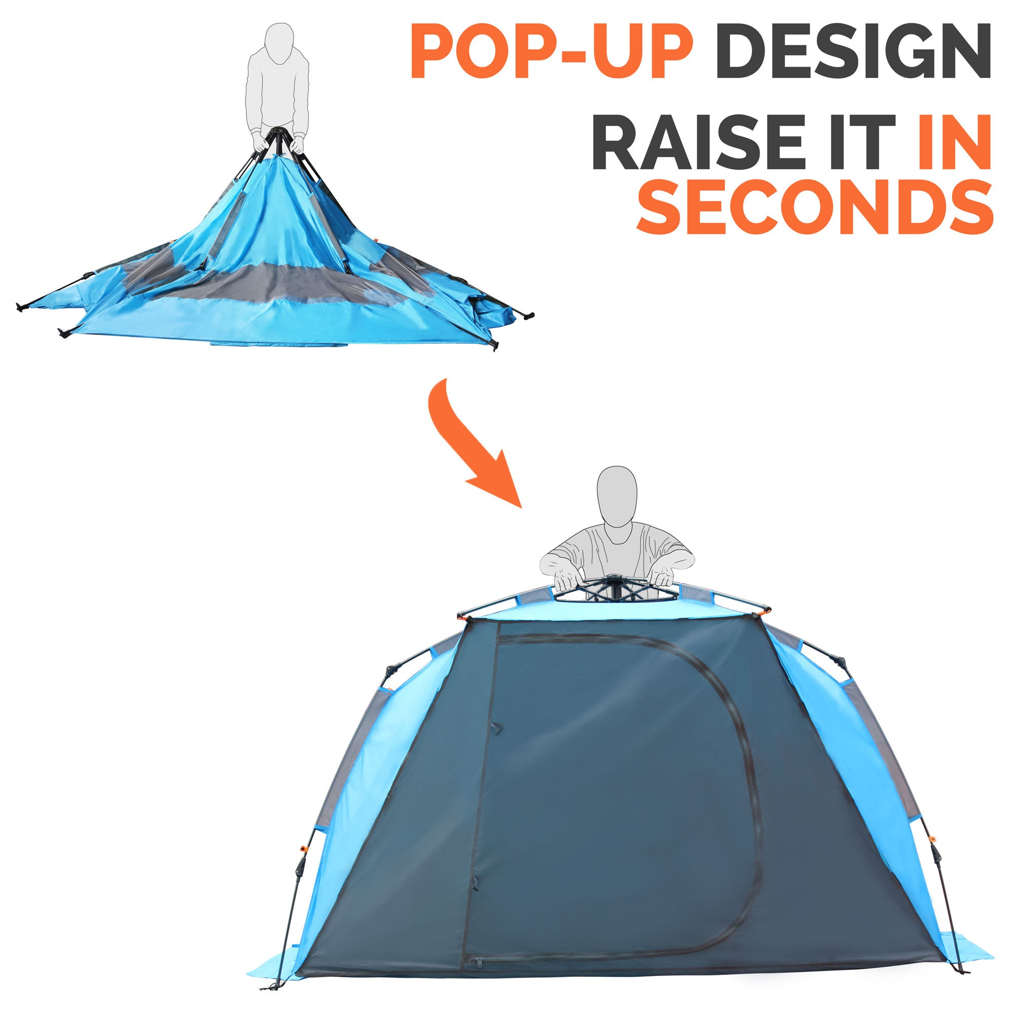 Pop-Up Beach Tent  sc 1 st  OutdoorMaster.com : large pop up tent - memphite.com