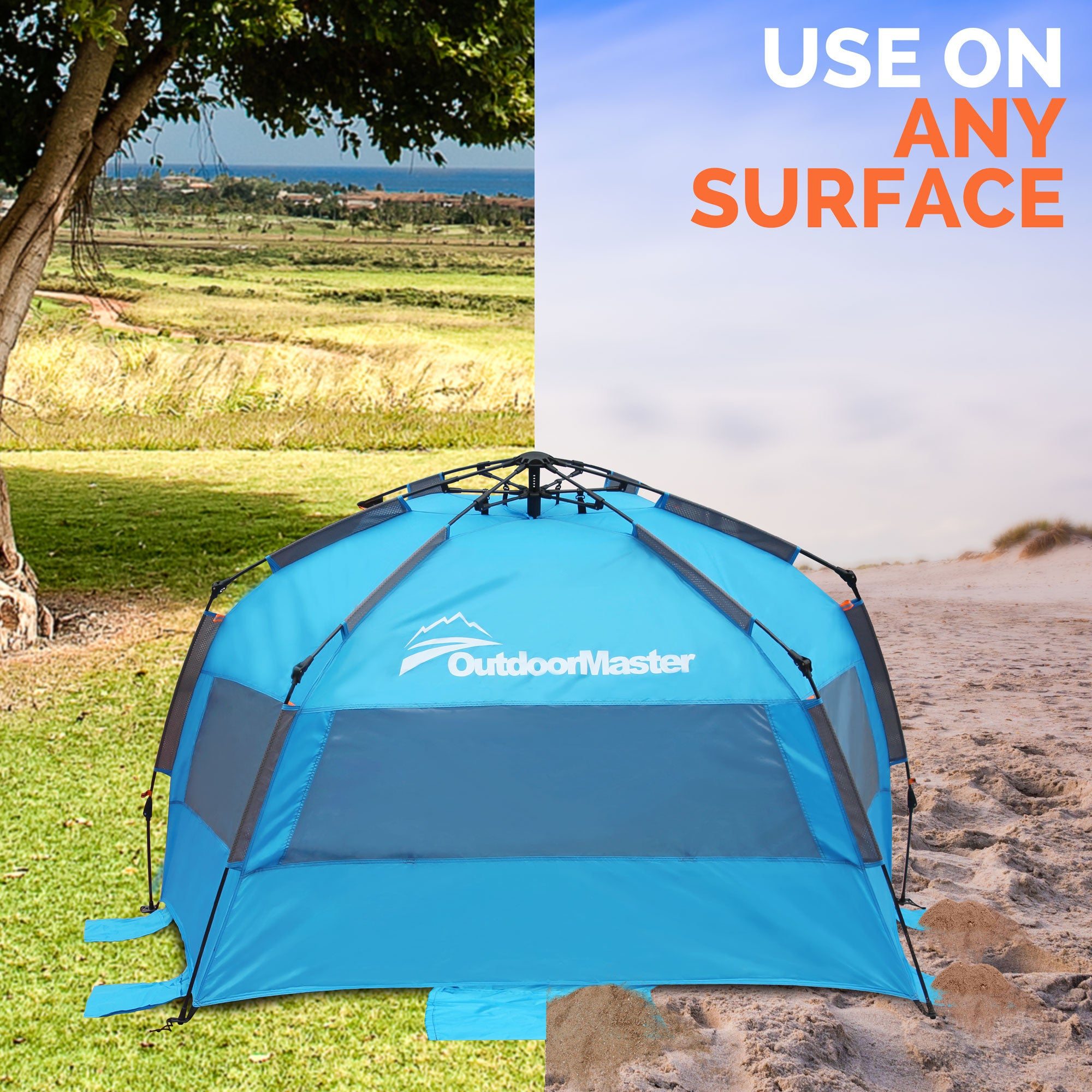 Pop-Up Beach Tent  sc 1 st  OutdoorMaster.com : beach tents pop up - memphite.com