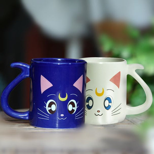 2 Anime Sailor Moon Crystal Cat Mug