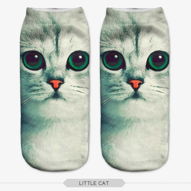 Casual Socks With Cat Print