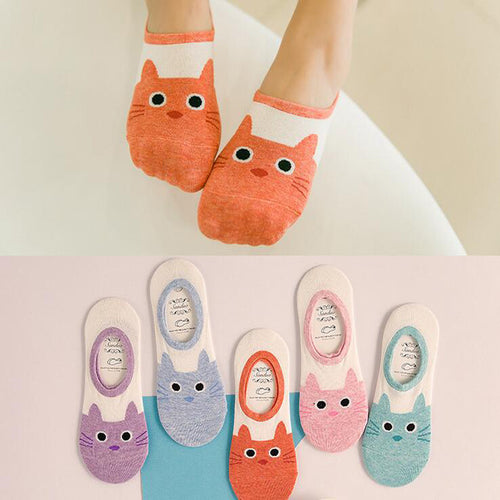 8 Cute Cat Boat Socks For Women - Store Launch Offer