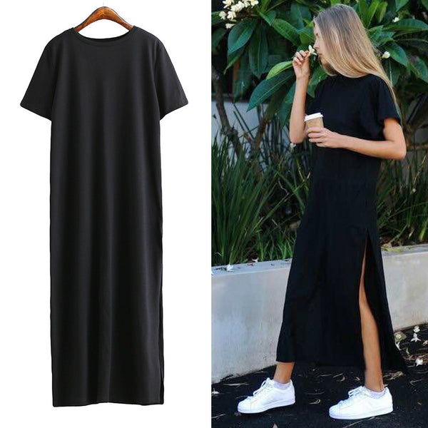 High Slit Long T shirt Summer HOT SALE