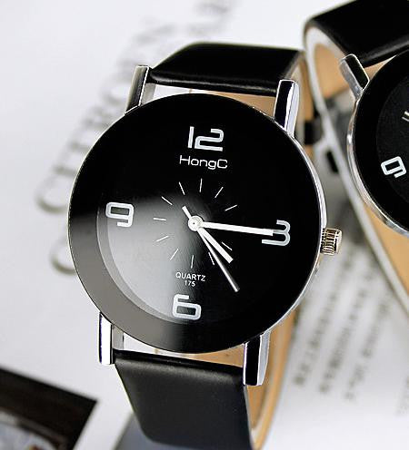 Leather Band Dress Watch