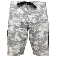 Pelagic Ambush Boardshort - Digital Camo Grey - Fishing's Finest