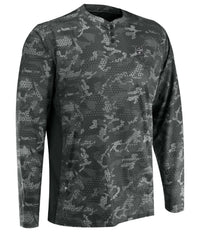 Pelagic Henley Long Sleeve Shirt - Ambush Black