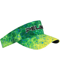Pelagic Performance Visor - Hex Dorado Green