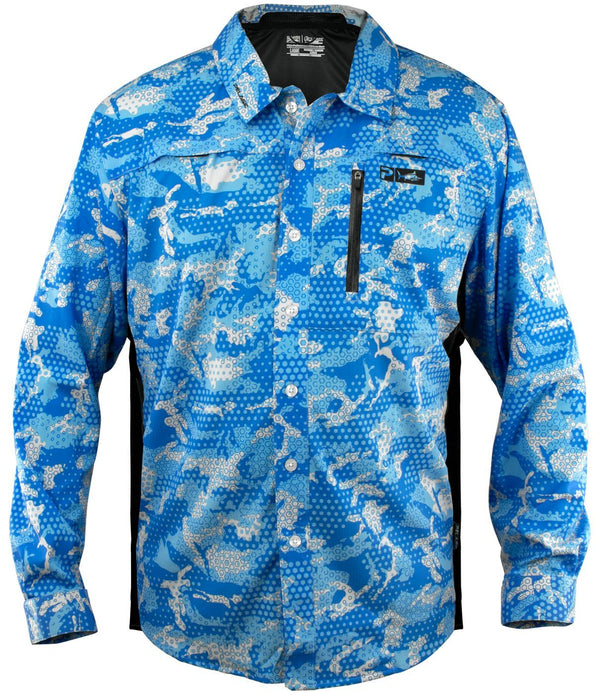 PELAGIC ECLIPSE GUIDE SHIRT PRO AMBUSH BLUE