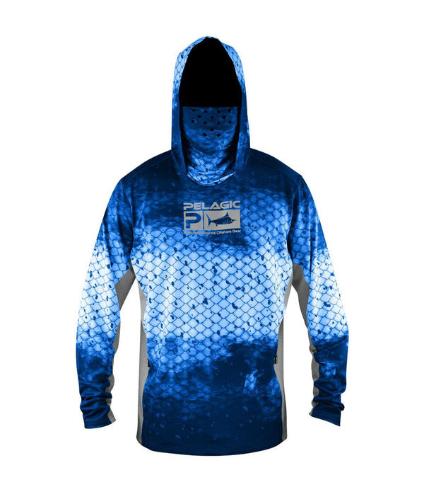 Pelagic Gear Exo Tech Hoody - Dorado Blue