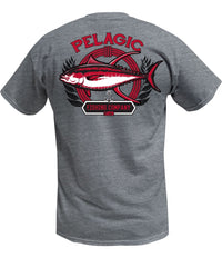 PELAGIC TUNA COMPANY TEE HEATHER GREY