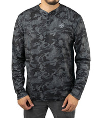 PELAGIC HENLEY LONG SLEEVE SHIRT AMBUSH BLACK