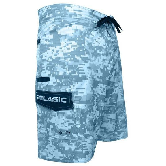 Pelagic Ambush Boardshort - Digital Camo Blue - Fishing's Finest