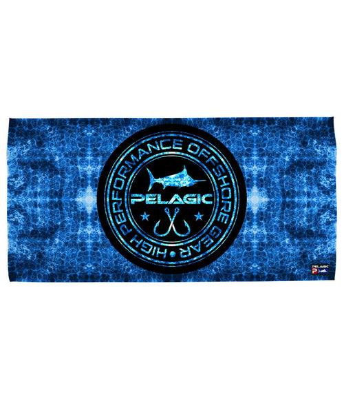 BLUE HEX CIRCLE LOGO TOWEL