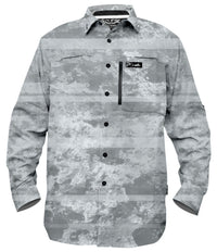 PRO SERIES GUIDE SHIRT - CORAL CAMO WHITE
