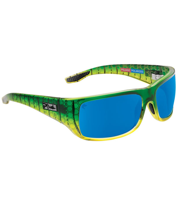 FISH HOOK GREEN DORADO / BLUE