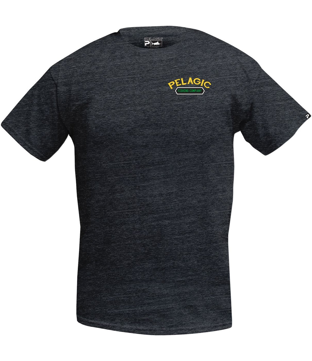 PELAGIC DORADO COMPANY TEE HEATHER GREY
