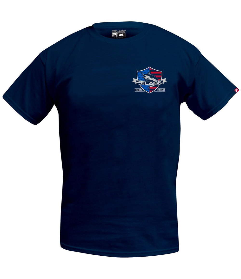 PELAGIC PATRIOT MARLIN TEE BLACK