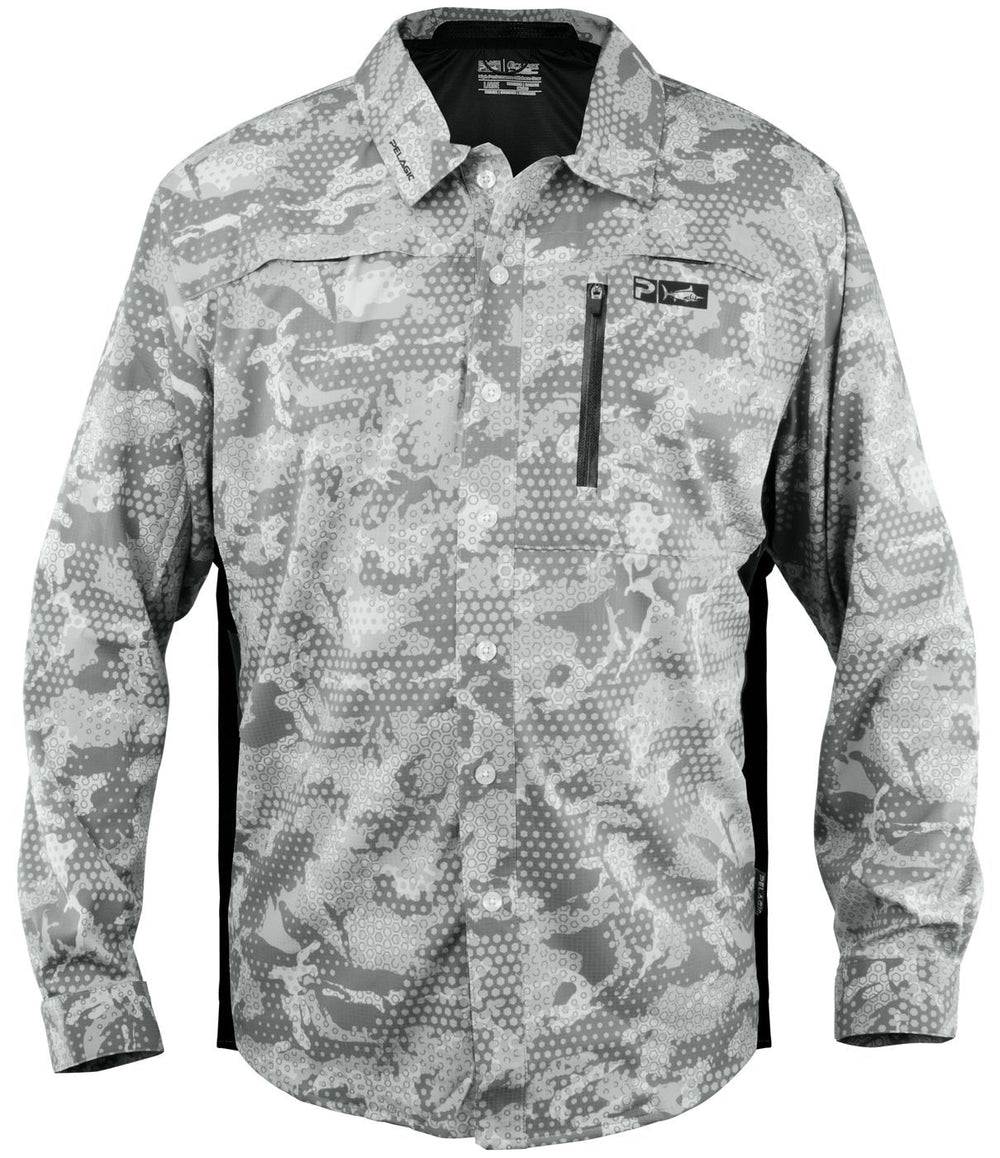 PELAGIC ECLIPSE GUIDE SHIRT PRO AMBUSH GREY