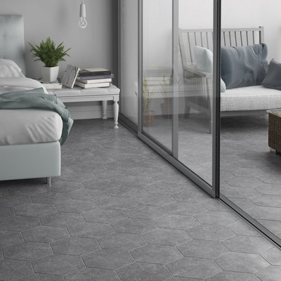 Bluestone Hexagone Grey