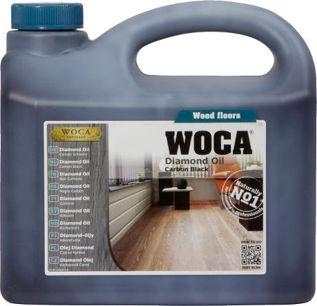 WOCA Basisbehandeling Diamond oil - Voc free - Carbon black
