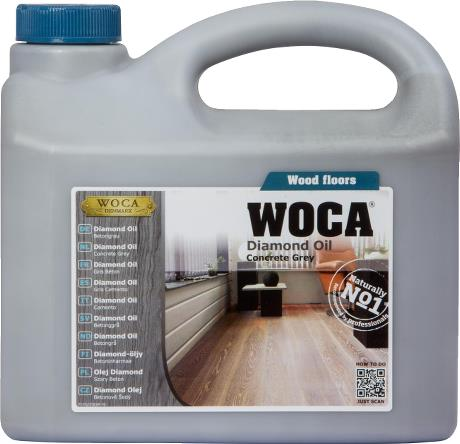 WOCA Basisbehandeling Diamond oil - Voc free - Concrete grey