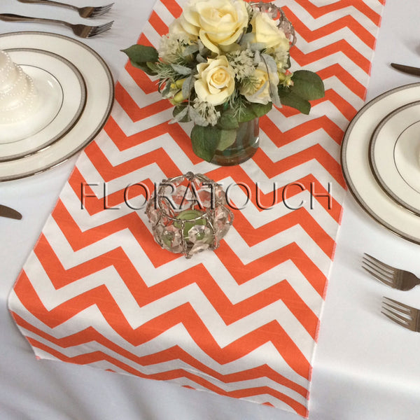 Orange Chevron Table Runner