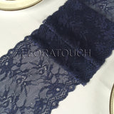 Navy Blue Lace Table Runner Wedding Table Runner LNB03