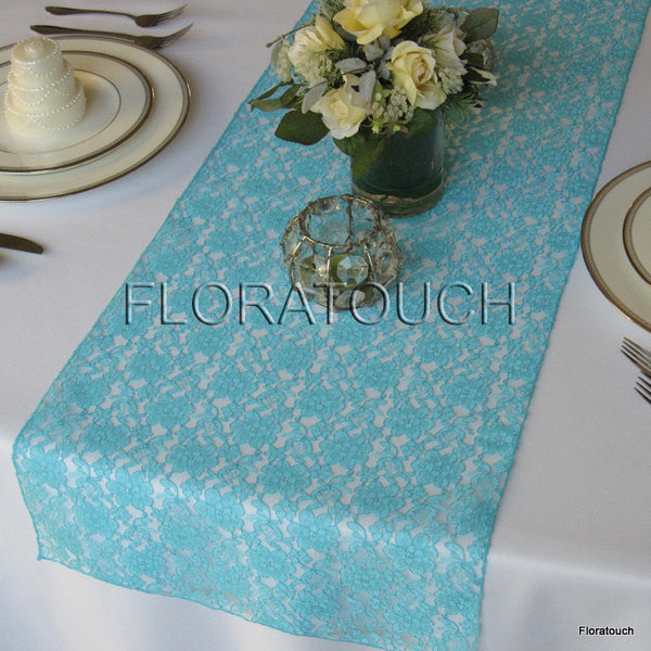 Pool Blue Lace Table Runner
