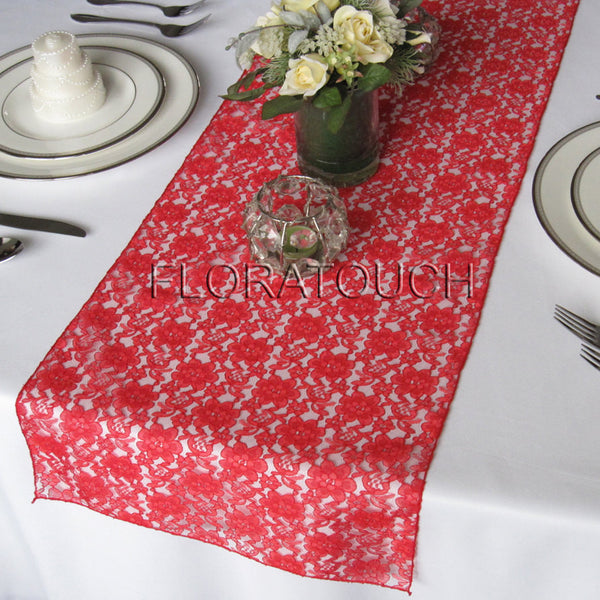 Red Lace Table Runner