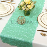 Mint Dazzle Square Sequin Table Runner