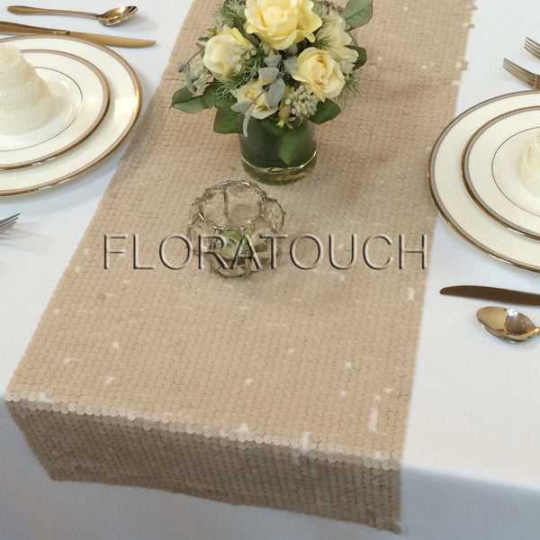 Champagne Sequin Table Runner