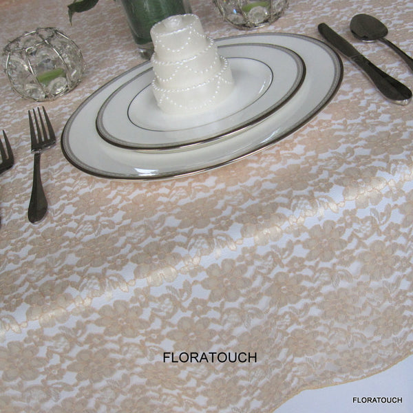 Gold Lace Tablecloth Table Overlay