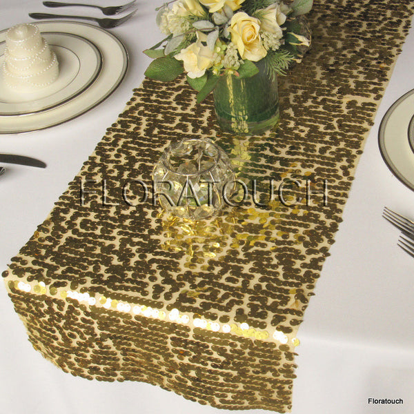 Gold Sparkling Sequin Table Runner