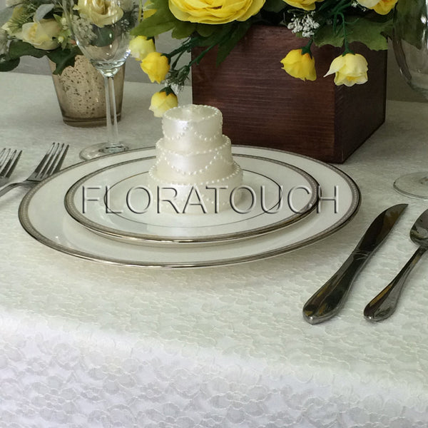 Ivory Lace Tablecloth Table Overlay