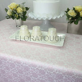 Light Pink Lace Tablecloth Table Overlay