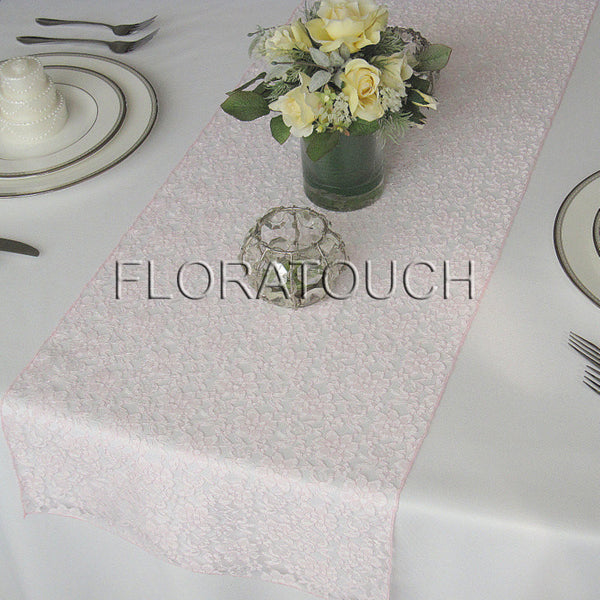 Light Pink Lace Table Runner