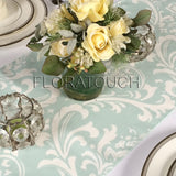 Traditions Powder Blue and White Damask Table Runner
