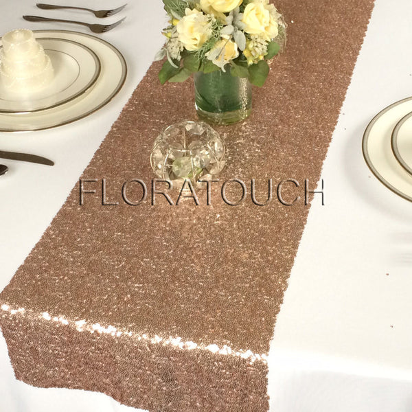 Rose Gold Glitz Sequin Table Runner