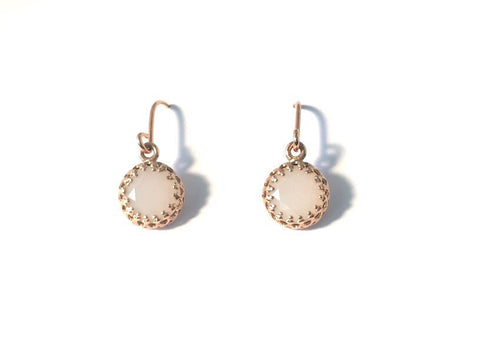 Blush pink & gold vintage drops
