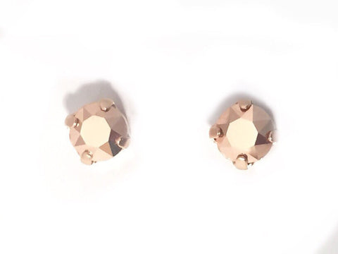 Metallic rose gold studs