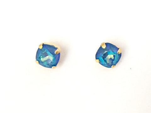 Ultra bue and gold studs