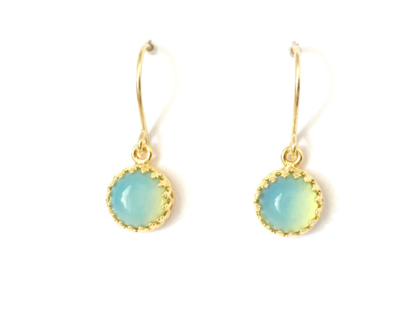 Gold & blue moonstone boho drops