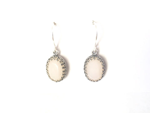 Blush pink antique silver drops