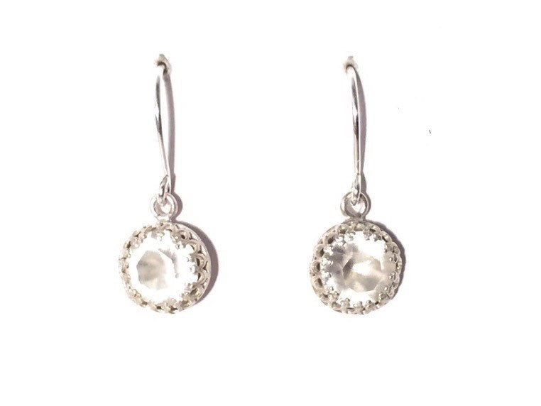Sterling silver vintage style crystal drop earrings