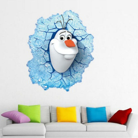 3D Creative Olaf Wall Sticker Art Vinyl Decal - UYL Online Store