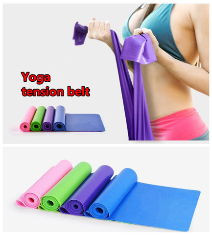 Yoga Pilates Stretch Resistance Band FREE Plus Shipping Offer