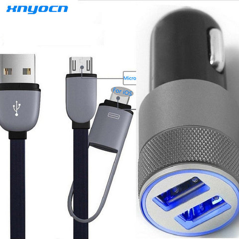 2 Port 3.1A Dual USB Cell Phone Car Chargers with Micro USB Cable - UYL Online Store
